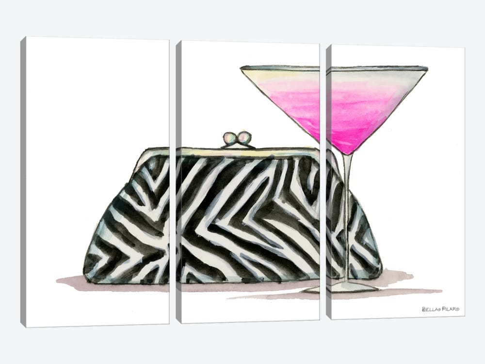 Best dress Zebra Couture Cocktail by Bella Pilar 3-piece Canvas Print