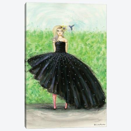 Kira And The Hummingbird Canvas Print #BPR332} by Bella Pilar Canvas Artwork