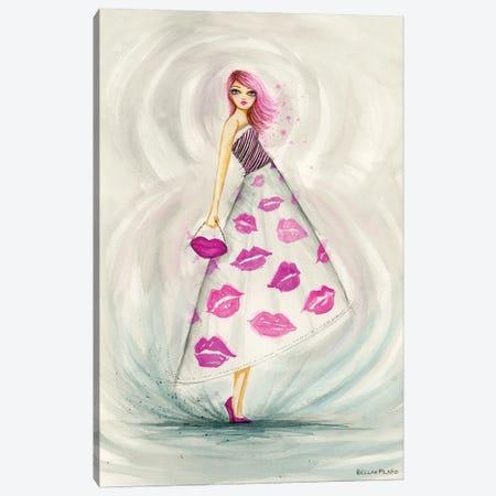 Lipstick Kesses Skirt Canvas Print #BPR333} by Bella Pilar Canvas Art