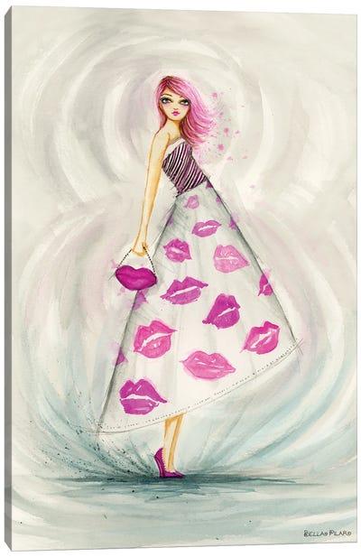 Lipstick Kesses Skirt Canvas Art Print