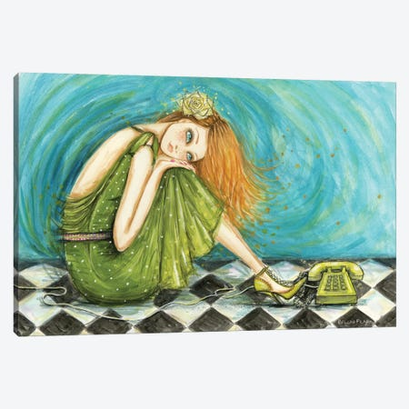 Melinda Waiting For The Phone To Ring Canvas Print #BPR337} by Bella Pilar Canvas Art Print