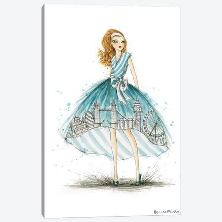 Night On The Town City Skirt Blue London Canvas Print #BPR338} by Bella Pilar Canvas Art