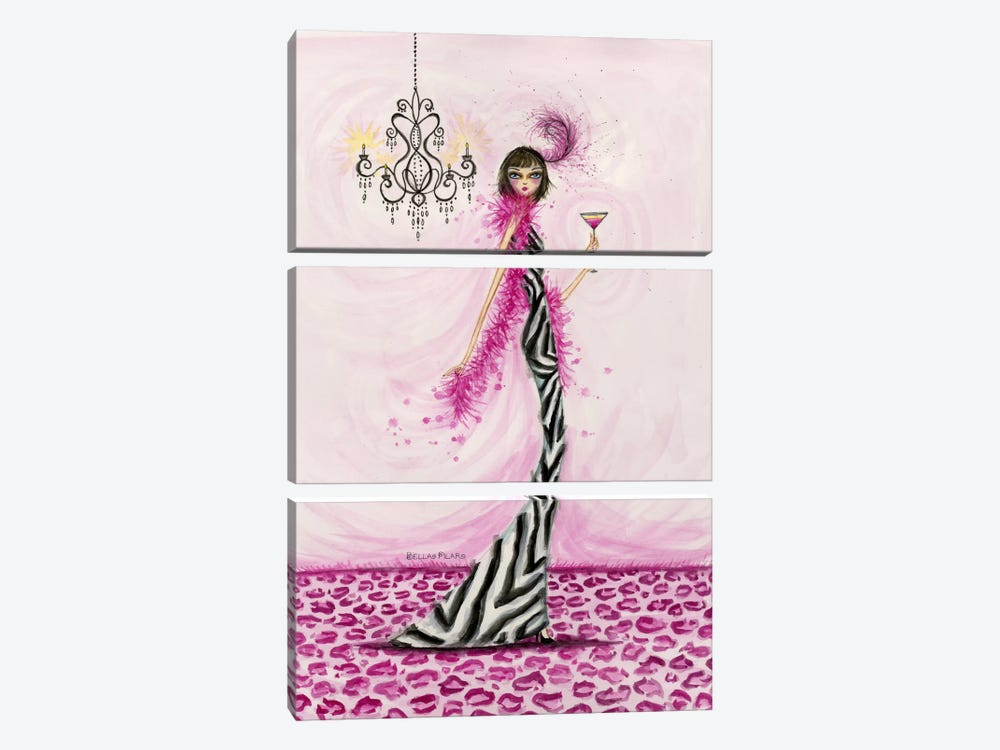 Best dress Zebra Couture by Bella Pilar 3-piece Canvas Art