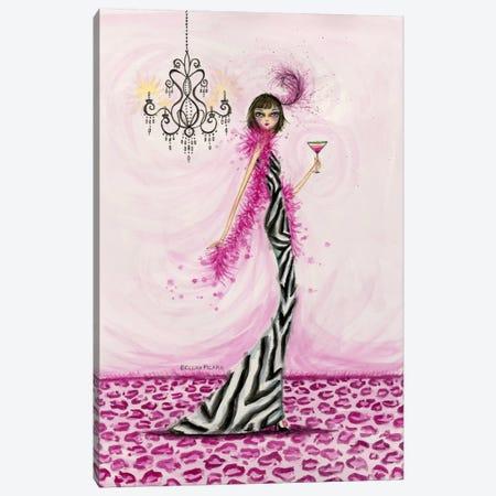 Best dress Zebra Couture Canvas Print #BPR33} by Bella Pilar Canvas Art Print