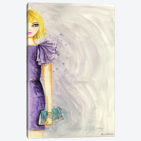Purple Dress Ruffle Sleeve Canvas Print #BPR344} by Bella Pilar Canvas Artwork