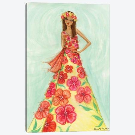 Spring Is Here Birthday Flower Crown Canvas Print #BPR347} by Bella Pilar Canvas Artwork