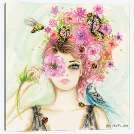 Spring Is Here Main Canvas Print #BPR348} by Bella Pilar Art Print