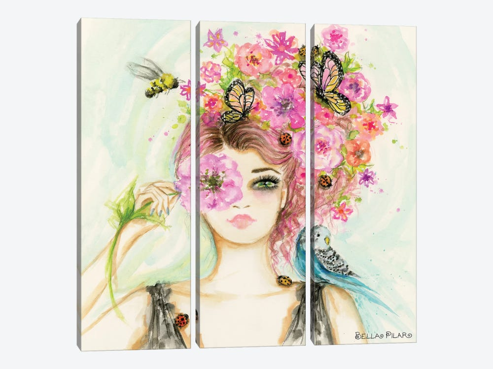 Spring Is Here Main by Bella Pilar 3-piece Canvas Art Print