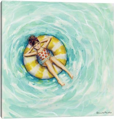 Pool Floatin' Canvas Art Print