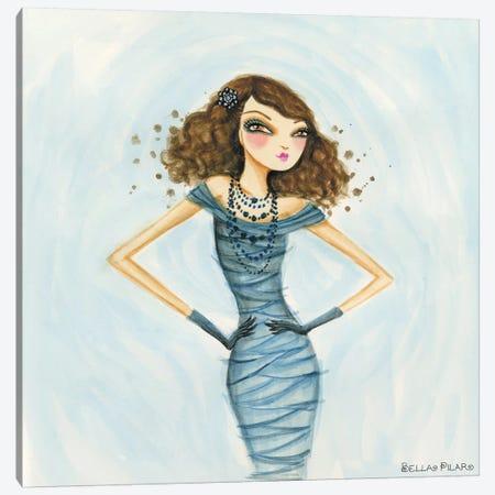 Cameo Blue Canvas Print #BPR36} by Bella Pilar Canvas Art
