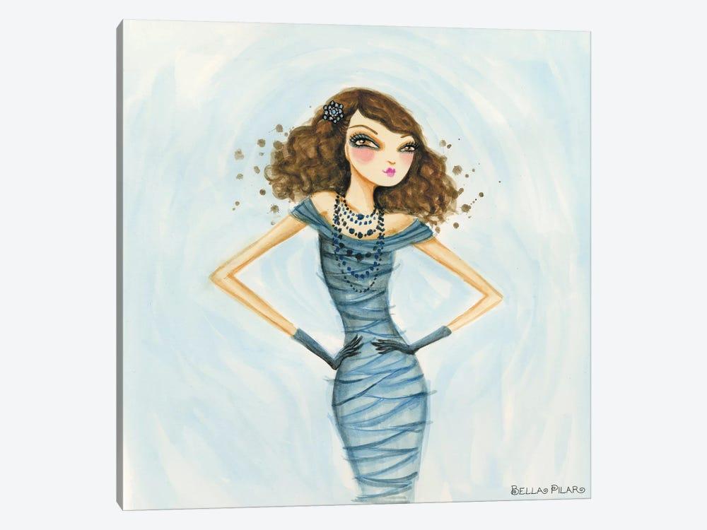 Cameo Blue by Bella Pilar 1-piece Canvas Art Print