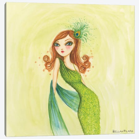 Cameo Green Canvas Print #BPR37} by Bella Pilar Canvas Artwork