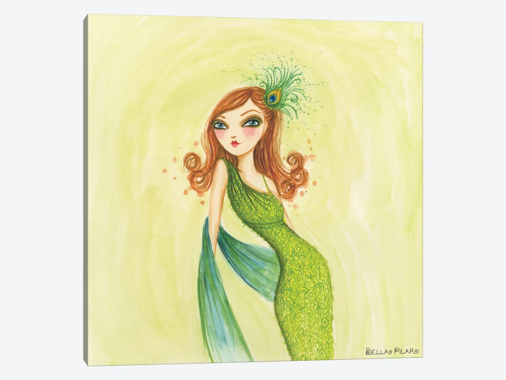 Cameo Green by Bella Pilar 1-piece Canvas Art