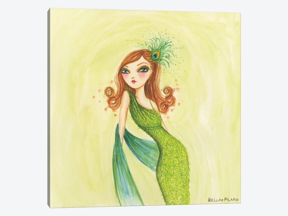 Cameo Green by Bella Pilar 1-piece Canvas Art