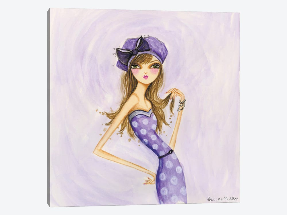 Cameo Purple by Bella Pilar 1-piece Canvas Art