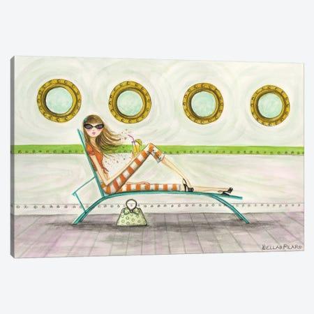 Ahoy Delia On Deck Canvas Print #BPR3} by Bella Pilar Canvas Print