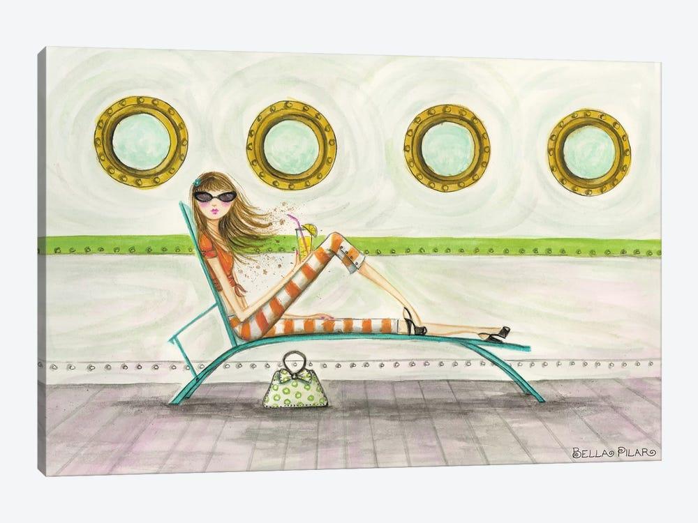 Ahoy Delia On Deck by Bella Pilar 1-piece Canvas Art Print