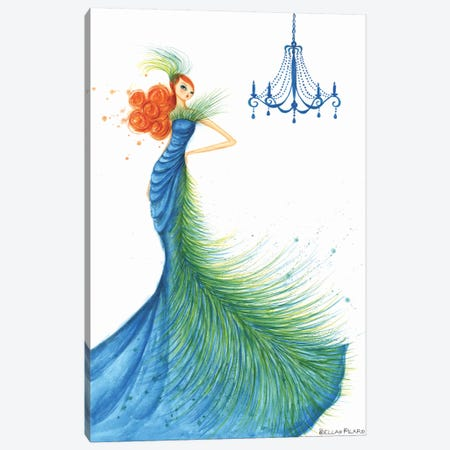 Couture Feather Canvas Print #BPR40} by Bella Pilar Canvas Wall Art