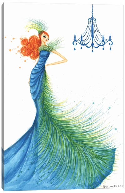 Couture Feather Canvas Art Print