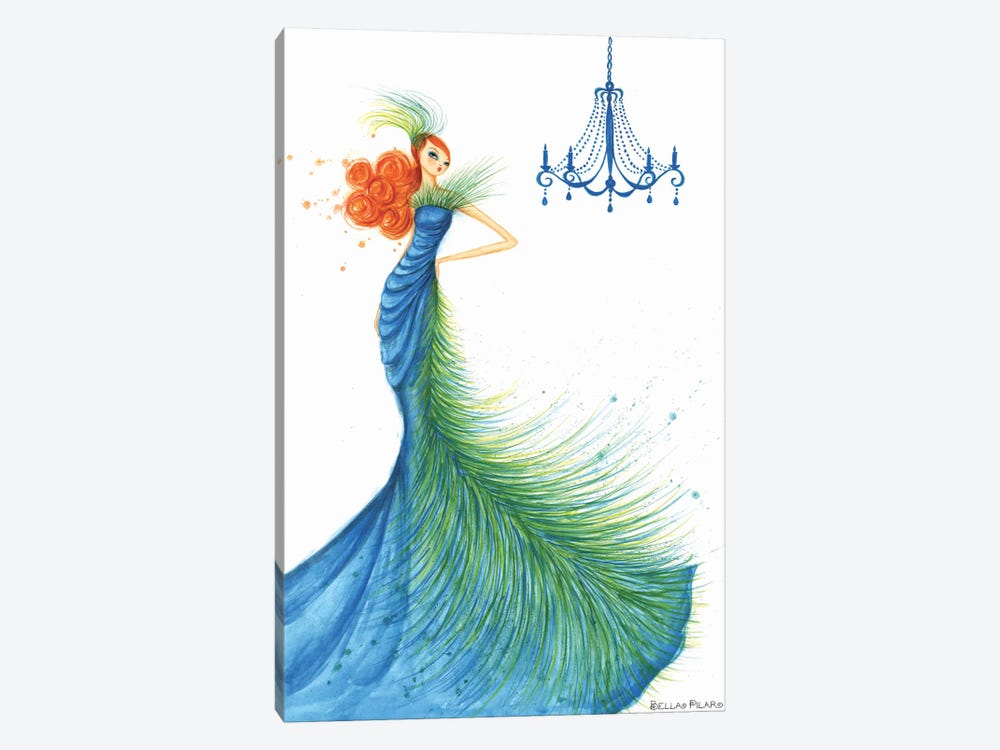 Couture Feather by Bella Pilar 1-piece Canvas Art