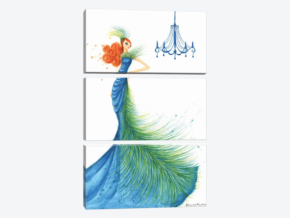 Couture Feather by Bella Pilar 3-piece Canvas Artwork