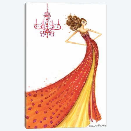 Couture Gem Canvas Print #BPR41} by Bella Pilar Canvas Art