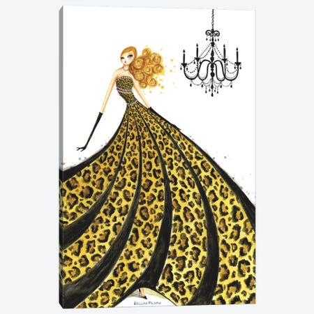 Couture Leopard  Canvas Print #BPR43} by Bella Pilar Canvas Art