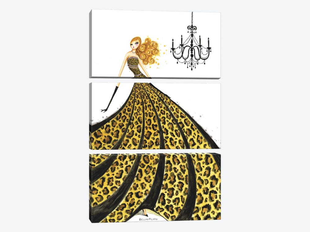 Couture Leopard by Bella Pilar 3-piece Canvas Print