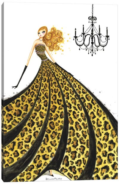 Couture Leopard  Canvas Art Print