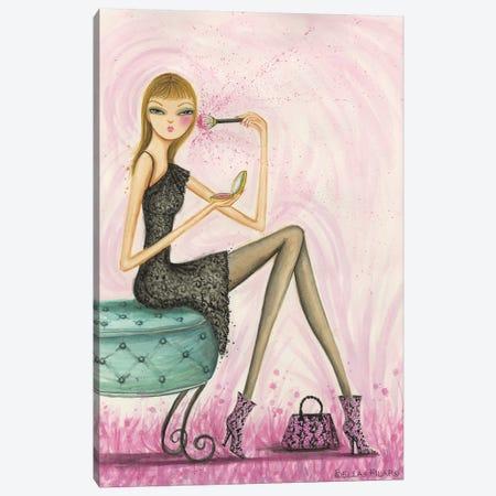 Blushing Beauty Canvas Print #BPR45} by Bella Pilar Art Print