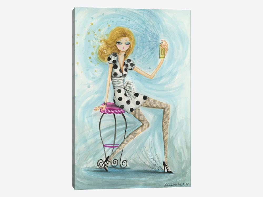 Hairspray by Bella Pilar 1-piece Canvas Wall Art