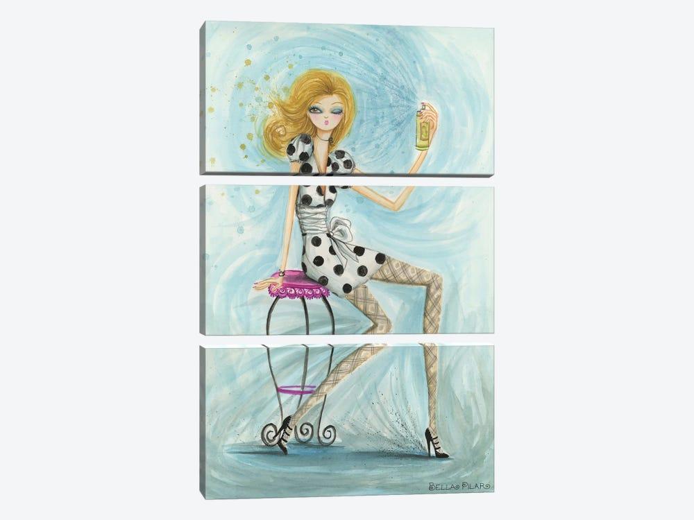 Hairspray by Bella Pilar 3-piece Canvas Artwork