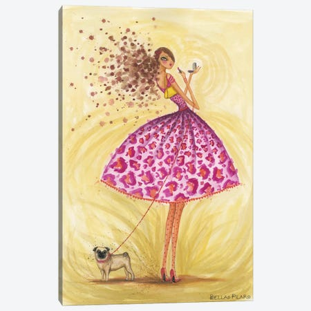 Kissable Canvas Print #BPR49} by Bella Pilar Canvas Artwork