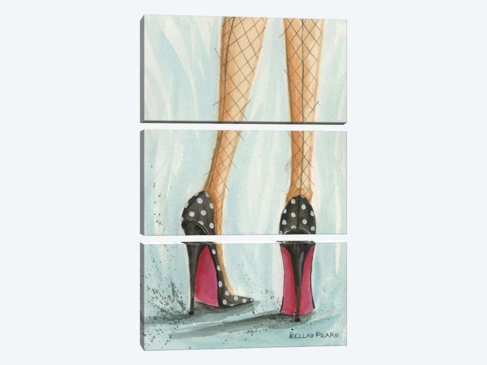 Polka Dot Heels by Bella Pilar 3-piece Canvas Art