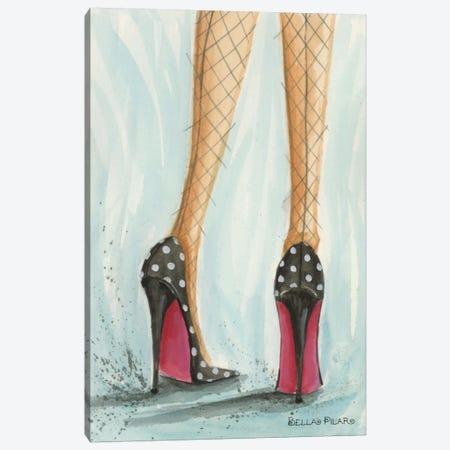 Polka Dot Heels Canvas Print #BPR57} by Bella Pilar Canvas Wall Art