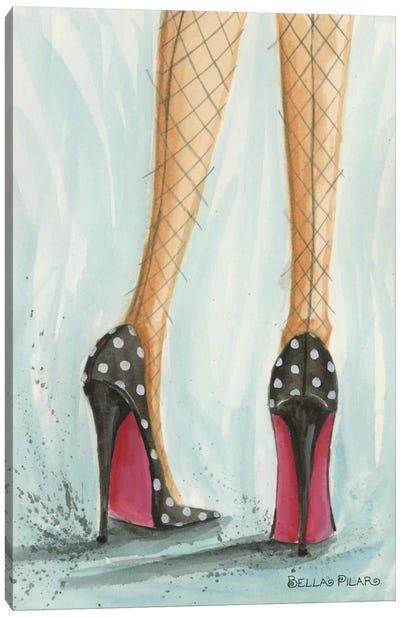 Polka Dot Heels Canvas Art Print