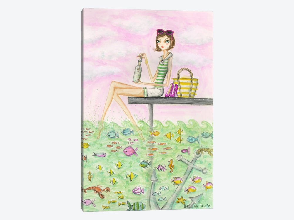 Ahoy Madeline's Message by Bella Pilar 1-piece Art Print