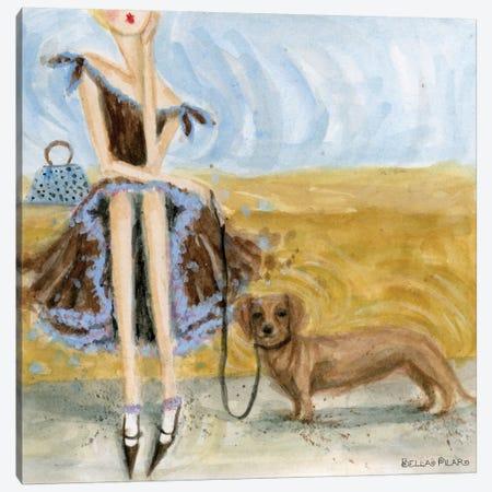Dachshund  Canvas Print #BPR60} by Bella Pilar Canvas Wall Art