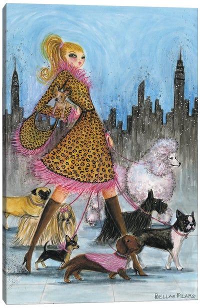 Dogwalker Canvas Art Print