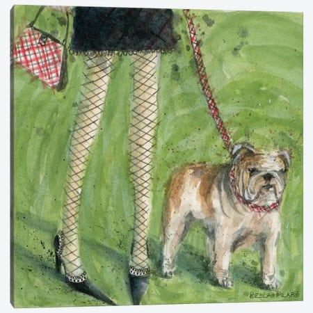 English Bulldog  Canvas Print #BPR62} by Bella Pilar Canvas Wall Art