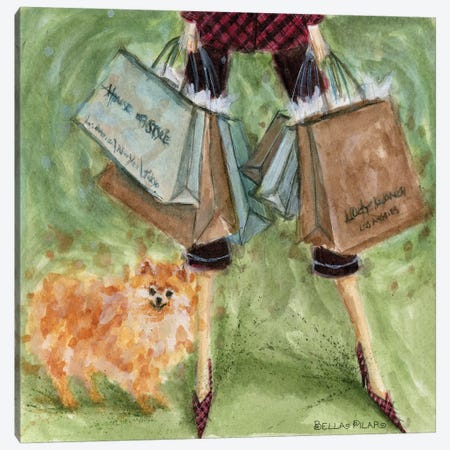 Dog Day: Pomeranian  Canvas Print #BPR64} by Bella Pilar Art Print