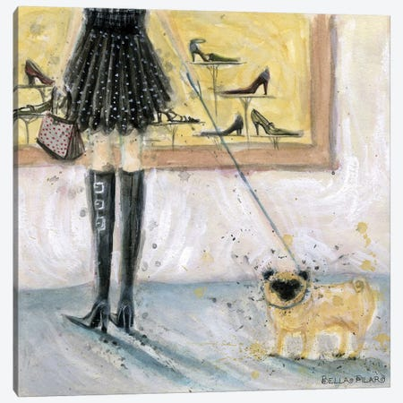 Dog Day: Pug  Canvas Print #BPR66} by Bella Pilar Art Print