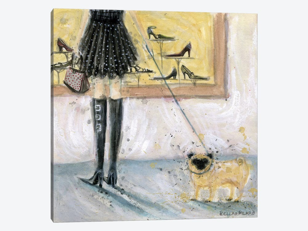 Dog Day: Pug by Bella Pilar 1-piece Canvas Wall Art