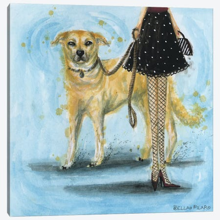 Yellow Lab Canvas Print #BPR67} by Bella Pilar Canvas Print