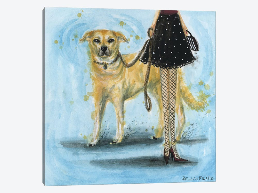 Yellow Lab by Bella Pilar 1-piece Canvas Art Print