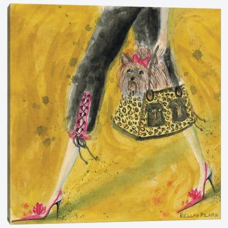 Yorkie Canvas Print #BPR68} by Bella Pilar Canvas Artwork
