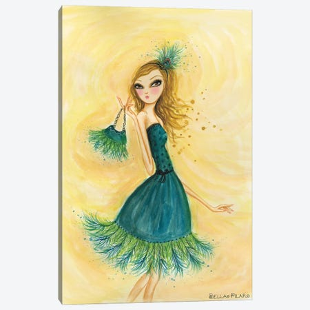 Feather Fancy Canvas Print #BPR69} by Bella Pilar Canvas Artwork