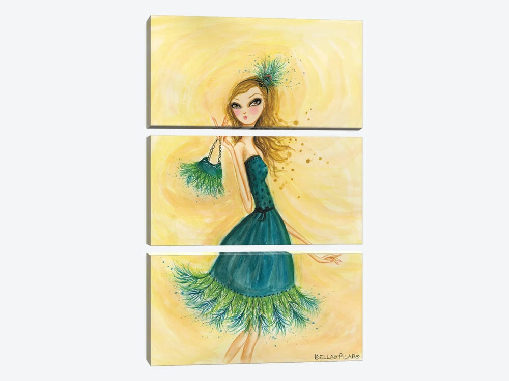 Feather Fancy by Bella Pilar 3-piece Canvas Art Print