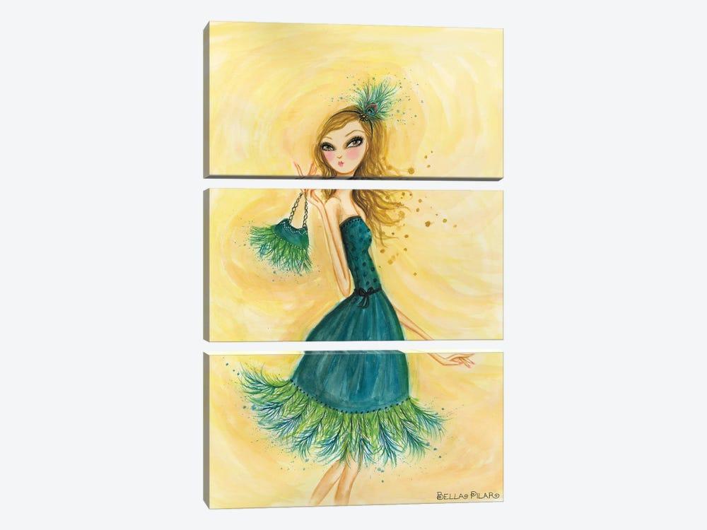 Feather Fancy by Bella Pilar 3-piece Canvas Art Print