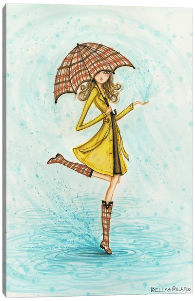 Raindrops Canvas Art Print